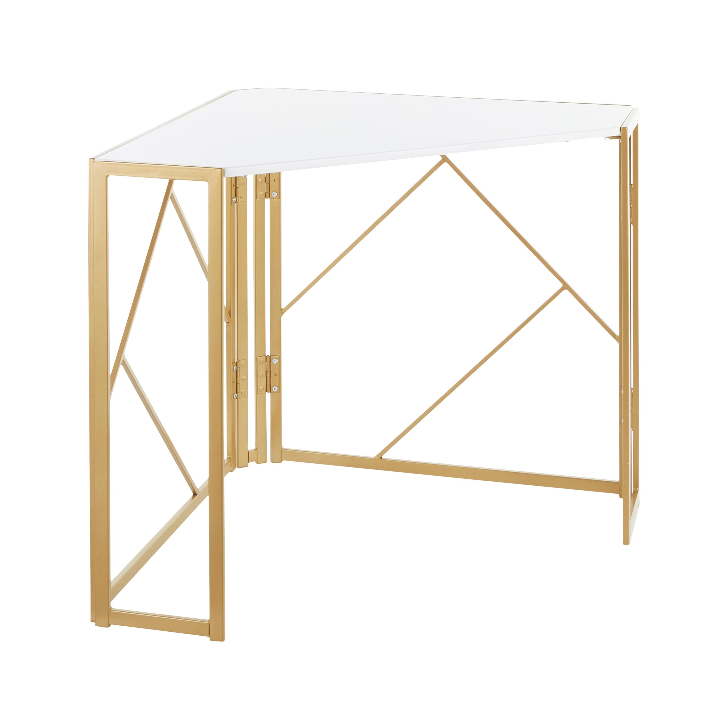 Silver Orchid Sala Corner Desk In Metal Wood Overstock 31701882 Silver Black