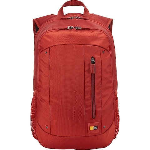 """Case Logic 15.6"""" Laptop and Tablet Backpack - Red - 18.4 x 13 x 2.6"""