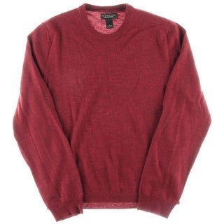 Private Label Mens Merino Wool Long Sleeves Crewneck Sweater - L