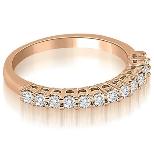 0.40 cttw. 14K Rose Gold Classic Round Cut Diamond Wedding Ring