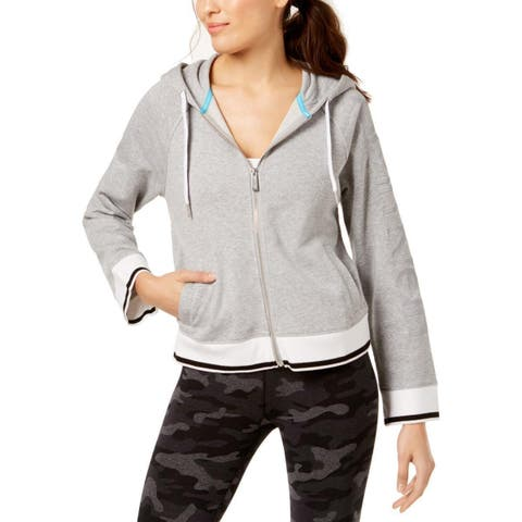 Calvin Klein Women's Performance Fitness Workout Hoodie Gray Size Large - Grey