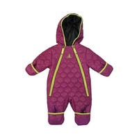 Rugged Bear Girls 9-18 Months Ribbed Quilt Pram - Purple