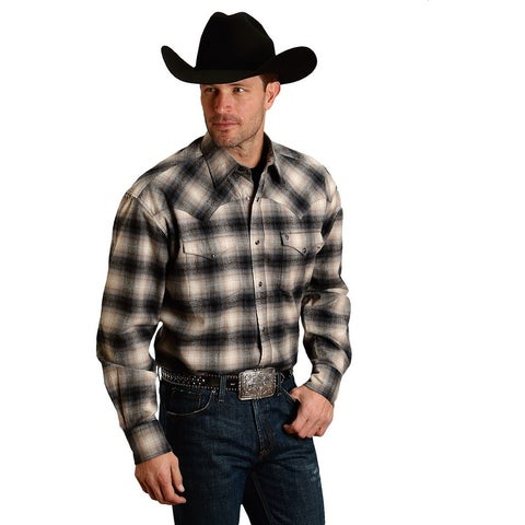 Stetson Western Shirt Mens Long Sleeve Snap Plaid