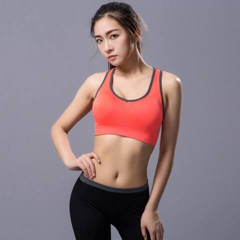Sports Bra No Rim Yoga Underwear Fitness Running Shockproof Quick-Dry Underwear