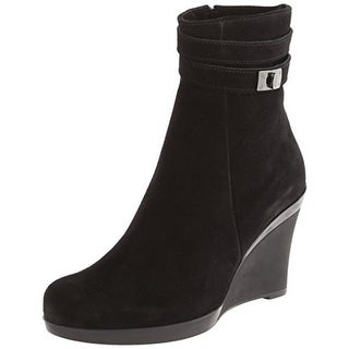 La Canadienne Womens Ivery Wedge Boots Suede Ankle