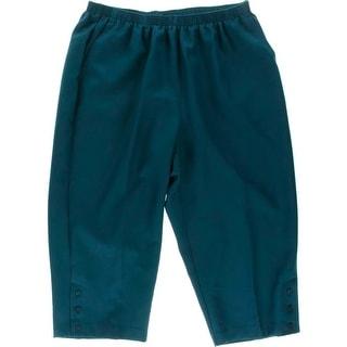 Alfred Dunner Womens Plus Twill Stretch Capri Pants
