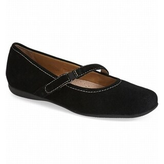 Trotters NEW Black Women's Shoes Size 7.5N Simmy Suede Ballet Flat