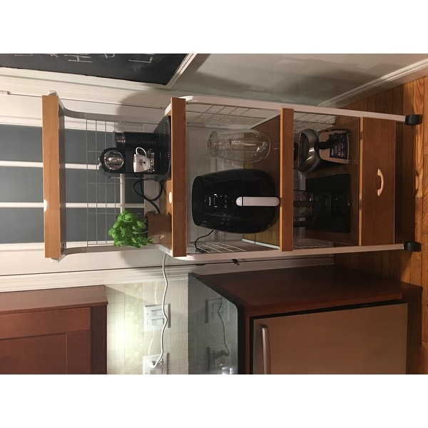 Costway 62 Bakers Rack Microwave Stand Rolling Kitchen Storage Cart W Electric Outlet As Pic Free Shipping Today 16315093
