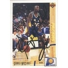 George McCloud Indiana Pacers 1992 Upper Deck Autographed Card This item comes with a certificate