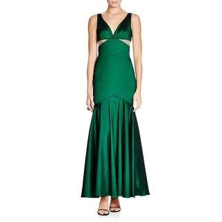 Aqua Womens Evening Dress Shimmer V-Neck