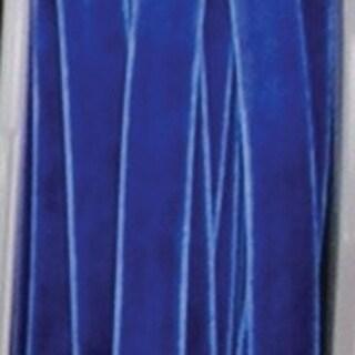 "Royal Blue Soft Velvet With Woven Edge Decorating Ribbon 1 1/2"" x 22 Yards"