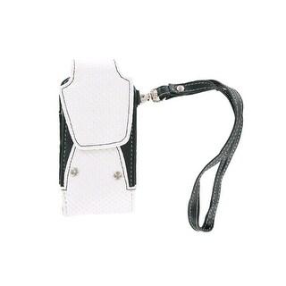 Xentris Universal Snake Skin Leather Case - Black/White