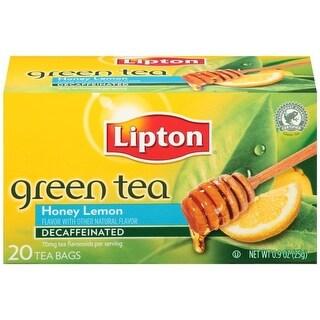 Lipton Honey Lemon Decaffeinated Green Tea Bags 20 ct   (Pack of 6)