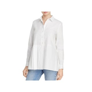 French Connection Womens Blouse Cotton Pleated