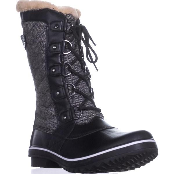JBU by Jambu Lorna Cold-Weather Boots, Herringbone Black