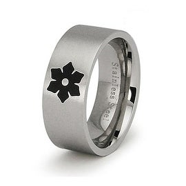 Stainless Steel Women's Flower Ring (Sizes 5-9)