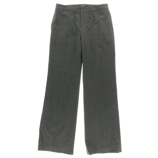 Lauren By Ralph Lauren NEW Gray Womens 16 Wool Flat-Front Dress Pants