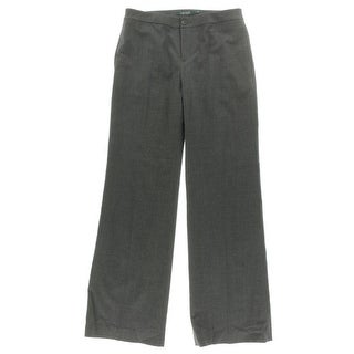 Lauren By Ralph Lauren NEW Gray Womens Size 14 Tab-Front Dress Pants