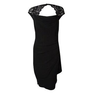 MSK Women's Lace Cowl Neck Dress