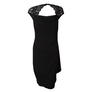 MSK Women's Lace Cowl Neck Dress