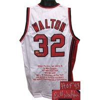 Bill Walton signed White TB Custom Stitched Basketball Jersey HOF 93 w Embroidered Stats XL