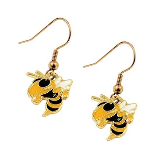 "Georgia Tech Yellow Jackets ""Bee"" Dangle Logo Earring Set NCAA Charm Gift"