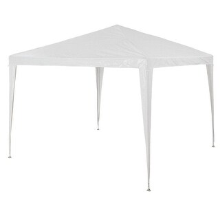 Costway 10'x10'Outdoor Heavy dutyPavilion Cater Events Outdoor Party Wedding Tent White