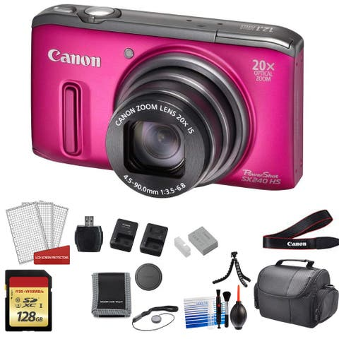 CANON SX240HS DIGCAM RED SX240HS RED - Kit with 2x 64GB Memory Cards