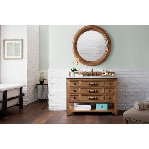 Malibu Honey Alder 48-inch 6-drawer Single Vanity Cabinet