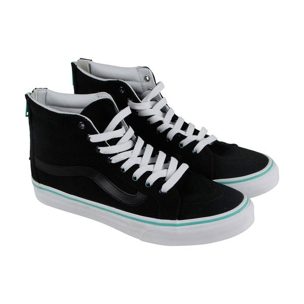 ce6581dc1dbf3c Shop Vans Sk8 Hi Slim Womens Black Canvas High Top Lace Up Sneakers Shoes -  Free Shipping On Orders Over  45 - Overstock.com - 19495107