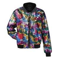 Women's Multi-Colored Bomber Fashion Jacket