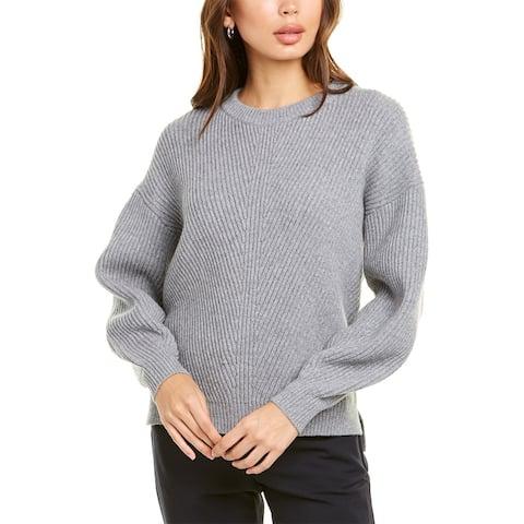 Velvet By Graham & Spencer Ribbed Wool & Cashmere-Blend Sweater