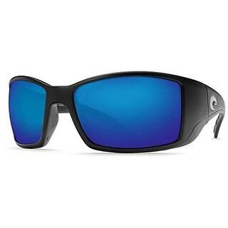 Costa Del Mar Blackfin Polarized Sunglasses, Black, Blue Mirror W580 - MATTE BLACK - 60 mm