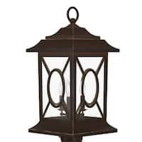 "Park Harbor PHEL2403 Kingston Manor 20"" Tall 3-Light Outdoor Post Light - Dark bronze - n/a"