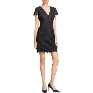 DKNY Womens Cocktail Dress Lace Short Sleeve