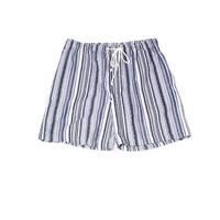 Majesctic Blue Mens Size Large L Drawstring Striped Pull-On Shorts