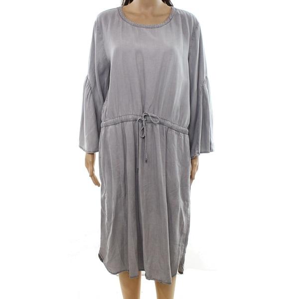 Lauren By Ralph Lauren Gray Womens Size 16 Blouson Shift Dress