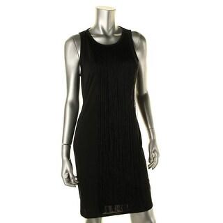 Sam Edelman Womens Cocktail Dress Fringe Sleeveless