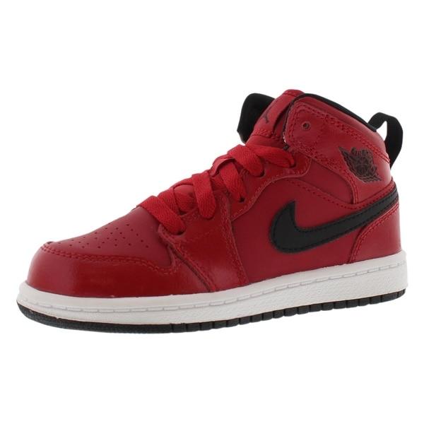 e2b73a25d07 Shop Jordan Air Jordan 1 Mid Basketball Preschool Boy's Shoes - 1.5 ...
