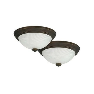 "Canarm IFM21113T 2 Light 11"" Wide Flush Mount Ceiling Fixture - Pack of 2"