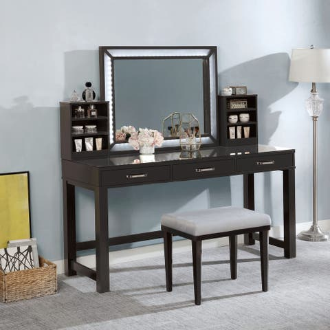 Furniture of America Wres Contemporary Solid Wood Vanity Set