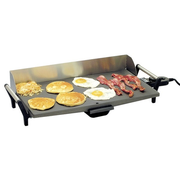 BroilKing PCG-10 Professional NonstickGriddle with Stainless Handles & Backsplash, Gray. Opens flyout.