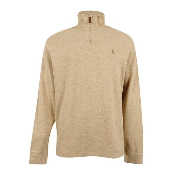 Shop Polo Ralph Lauren Men's Estate Rib Half Zip Sweater