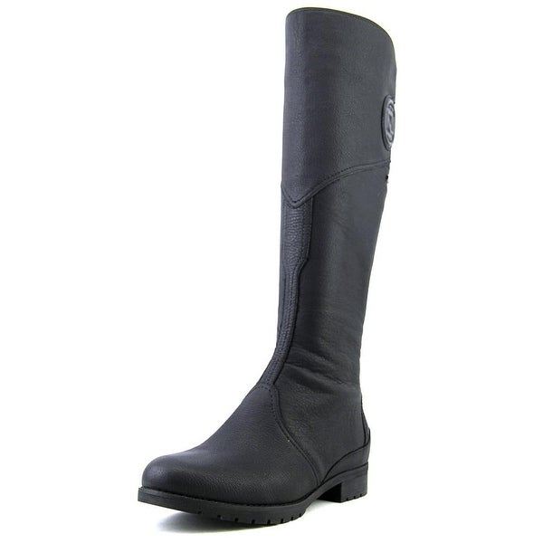 Rockport Tristina Gore Tall Boot Women Round Toe Leather Black Knee High Boot