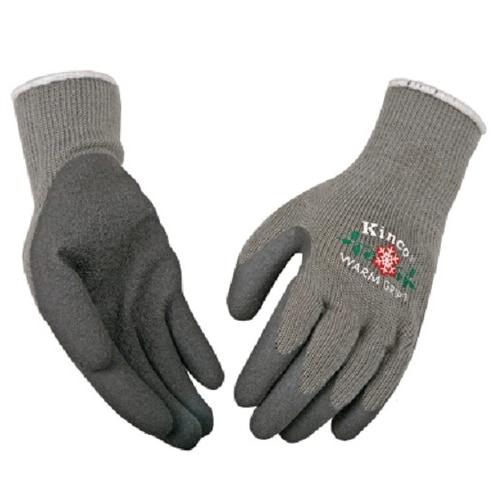 Kinco 1790W-M Warm Grip Women's Gloves, Medium, Light Blue/Gray
