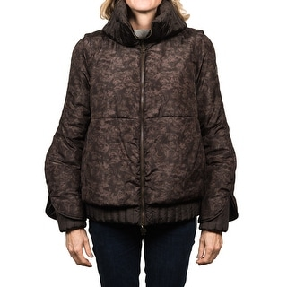 Moncler Fiest Padded Down Jacket Brown Women's