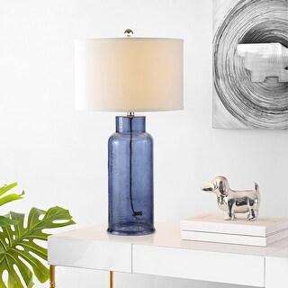 Safavieh Lighting 29 Inch Blue Bottle Glass Table Lamp Set Of 2 15 5 X15 5 X29 On Sale Overstock 9043319