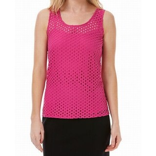 Laundry by Shelli Segal NEW Pink Women's Large L Illusion Tank Cami Top