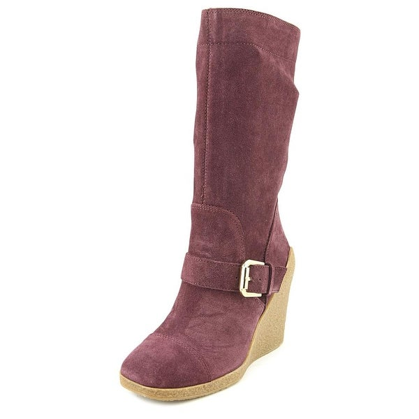 a03a1677a56 Nine West Darren Women Round Toe Suede Burgundy Knee High Boot - Free  Shipping On Orders Over  45 - Overstock.com - 24168483