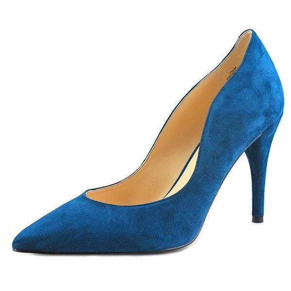 Nine West Fiddler Women Pointed Toe Suede Blue Heels